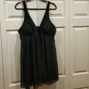 Other - Black women's bathing suit w/attached cover up. Si